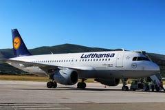 Lufthansa A319 Airbus no aeroporto da separação Imagem de Stock