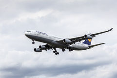 Lufthansa Airbus A340 passenger aircraft Stock Images