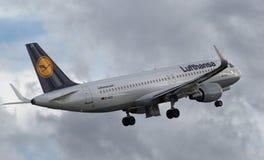 Lufthansa Airbus A320-214 (plan horizontal) - NC 5741 Image libre de droits