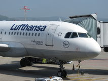 Lufthansa aircraft Stock Photo