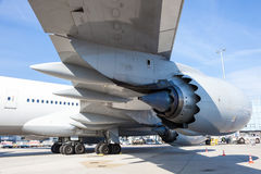 Lufthansa Airlines Boeing 747 at the Frankfurt Airport Stock Photo