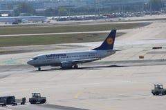 Lufthansa Airplane Royalty Free Stock Images