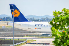 Lufthansa airplane Royalty Free Stock Images