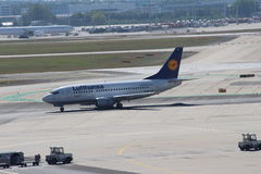 Lufthansa Airplanes Royalty Free Stock Photography
