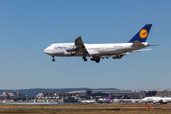 Lufthansa Boeing 747-400 Image libre de droits