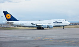 Lufthansa Boeing 747-400 Images stock