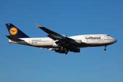 Lufthansa Boeing 747-400 Fotografia Stock Libera da Diritti