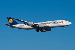 Lufthansa Boeing 747-8 Image stock