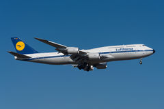 Lufthansa Boeing 747-8 Images stock