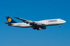 Lufthansa Boeing 747-8 Στοκ εικόνα με δικαίωμα ελεύθερης χρήσης