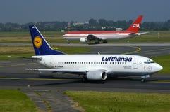 Lufthansa Boeing 737 Arkivfoton