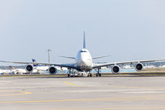 Lufthansa Boeing 747 at the Frankfurt Airport Royalty Free Stock Images