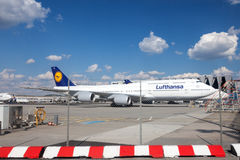 Lufthansa Boeing 747 at the Frankfurt Airport Stock Photo