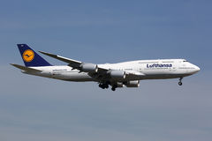 Lufthansa Boeing 747-8 Jumbo-Jet Royalty Free Stock Photo
