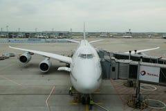 Lufthansa Boeing 747 no alcatrão no aeroporto de Francoforte Fotografia de Stock