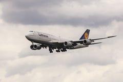 Lufthansa Boeing 747 passenger aircraft Royalty Free Stock Photos
