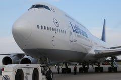 Lufthansa Boing 747-8 Brandeburgo Fotografie Stock Libere da Diritti