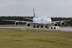 Lufthansa Boing 747-8 Brandenburg Stock Images