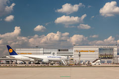 Lufthansa Cargo Boeing 777 Freighter Royalty Free Stock Photography