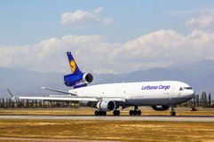 Lufthansa Cargo McDonnell Douglas MD-11F Stock Photo