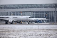 Lufthansa CityLine θλεμψραερ erj-195 δ-AEMC Στοκ φωτογραφίες με δικαίωμα ελεύθερης χρήσης