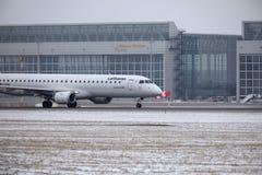 Lufthansa CityLine θλεμψραερ erj-195 δ-AEMC Στοκ Φωτογραφίες