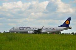 Lufthansa CityLine plane Stock Images
