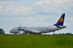 Lufthansa CityLine plane Royalty Free Stock Image