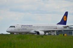 Lufthansa CityLine plane Royalty Free Stock Photography