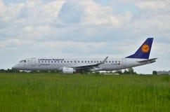 Lufthansa CityLine plane Stock Photography
