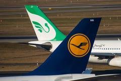 Lufthansa e linhas aéreas A340s de Mahan Fotos de Stock