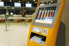 Lufthansa fare il check-nel chiosco Fotografia Stock