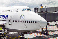 Lufthansa Flight ready to head Stock Photos