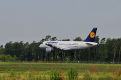 Lufthansa flyg Arkivbilder