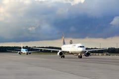 Lufthansa flygbuss A320 Royaltyfri Fotografi