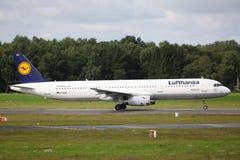 Lufthansa flygbuss A321 Royaltyfri Foto