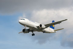 Lufthansa flygbuss A320 Royaltyfria Foton