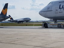 A380. Lufthansa A380 @FRA Royalty Free Stock Photo