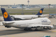 Lufthansa in Frankfurt royalty-vrije stock foto's