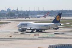 Lufthansa at Frankfurt stock photo
