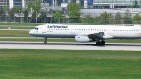 Lufthansa hyvlar att ta av från den Munich flygplatsen, MUC