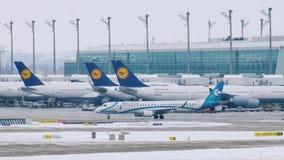 Lufthansa hyvlar på slutliga portar, den Munich flygplatsen lager videofilmer