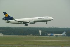 Lufthansa Lading Royalty-vrije Stock Afbeeldingen