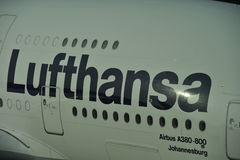 Lufthansa Lettering Royalty Free Stock Image
