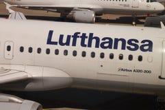 Lufthansa-logotipo Fotografia de Stock