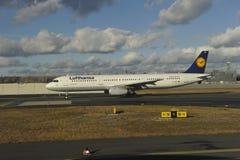 Lufthansa Luchtbus Stock Foto