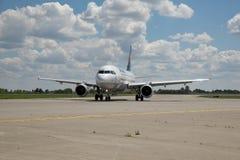 Lufthansa Luchtbus A320 stock afbeelding