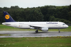 Lufthansa Luchtbus A320 Royalty-vrije Stock Fotografie