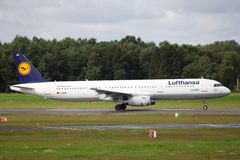 Lufthansa-Luchtbus A321 Royalty-vrije Stock Foto