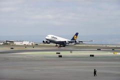 Lufthansa Luchtbus A380 Stock Fotografie